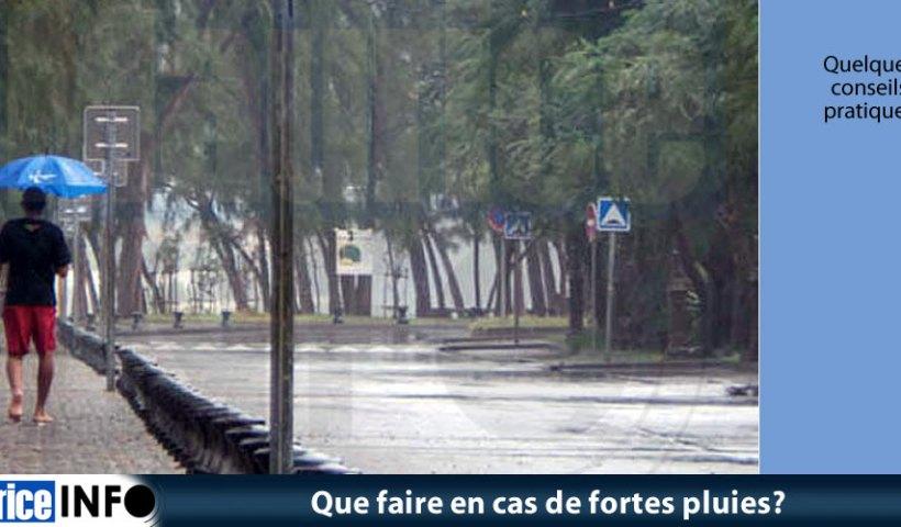 Que faire en cas de fortes pluies?