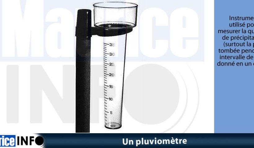 Un pluviomètre