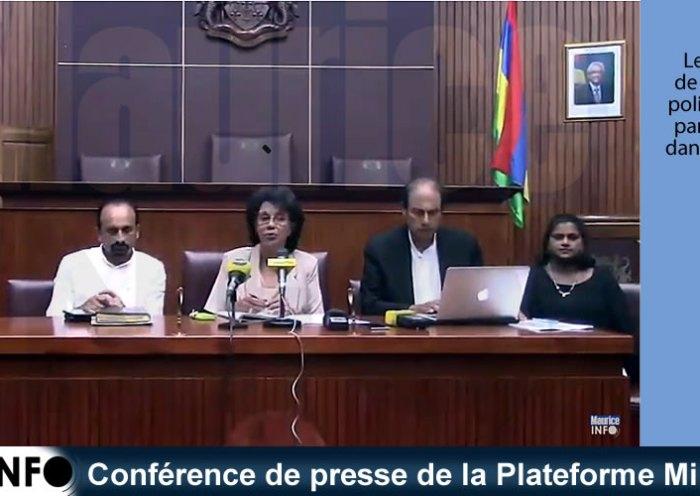 Conférence de presse de la Plateforme Militante du 15 février 2019
