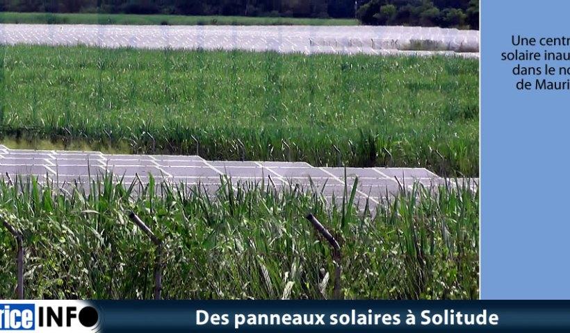 Des panneaux solaires à Solitude