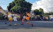 L'équipe Rossoneri contre les Classico La Rosa à la phase finale mauricienne en mai 2018.