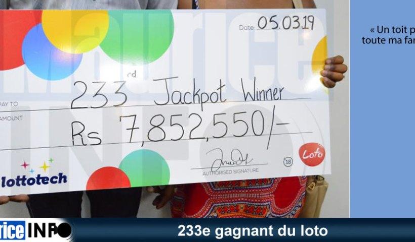 233e gagnant du loto est un carreleur.