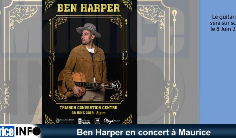 Ben Harper en concert à Maurice