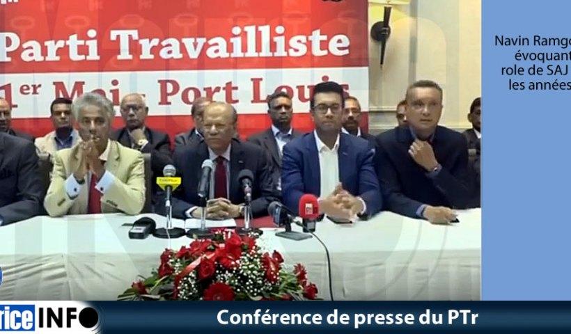 Conférence de presse du PTr
