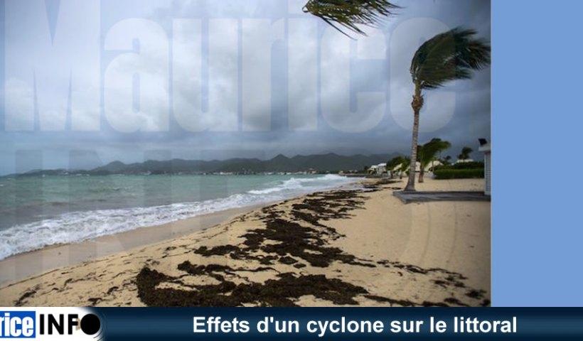 Effets un cyclone sur le littoral