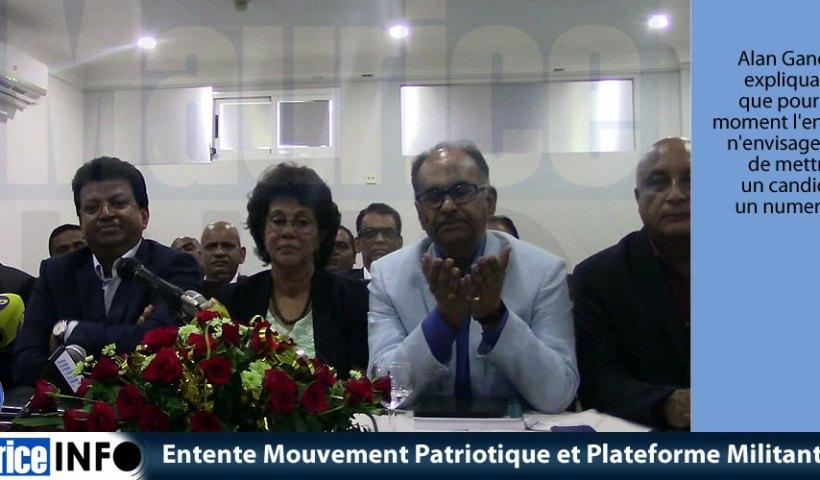 Entente Mouvement Patriotique et Plateforme Militante