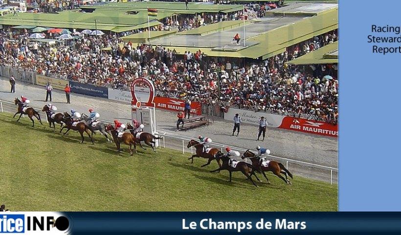 Le Champs de Mars - Racing Stewards' Report