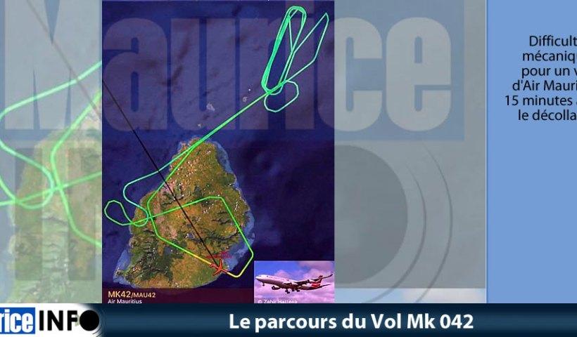 Le parcours du vol MK 042