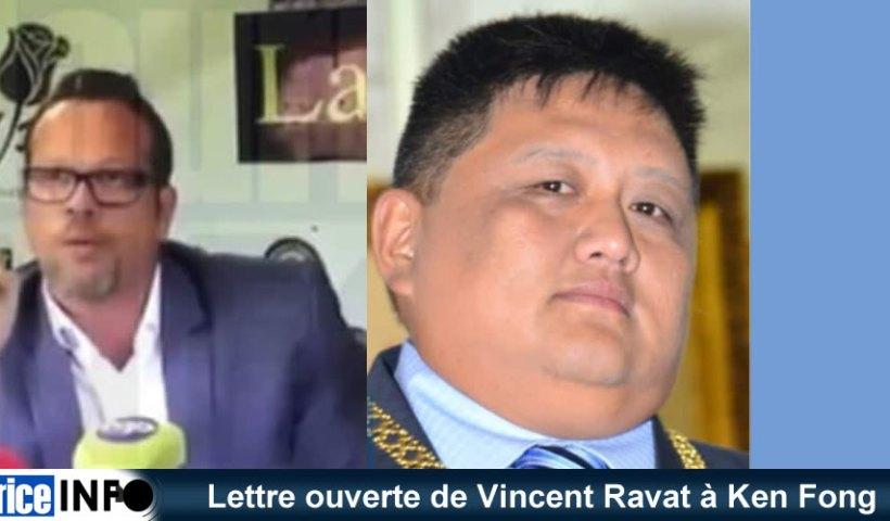 Lettre ouverte de Vincent Ravat à Ken Fong
