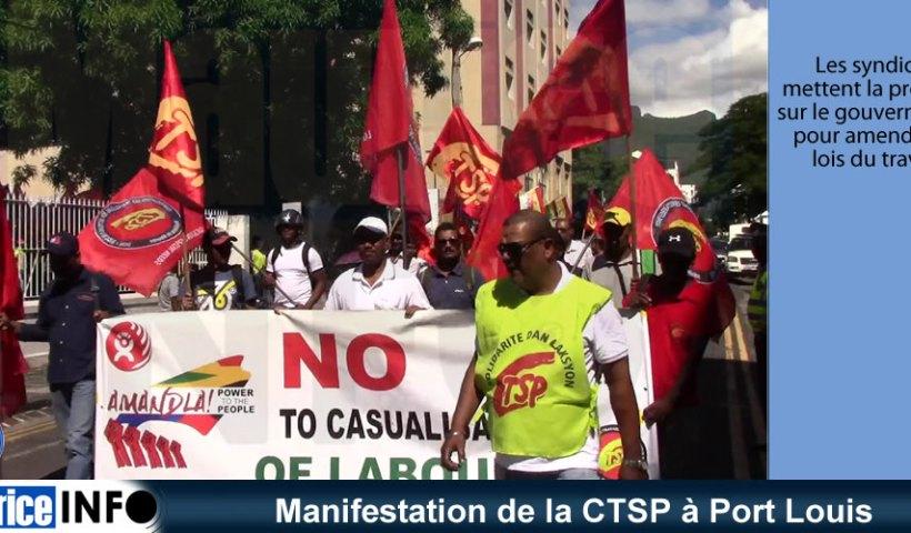 Manifestation de la CTSP à Port Louis