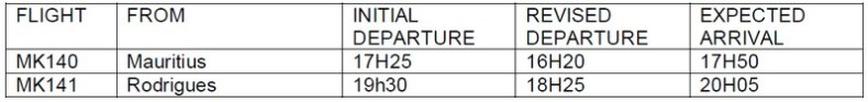 Air Mauritius posponed flights