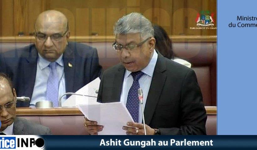 Ashit Gungah au Parlement