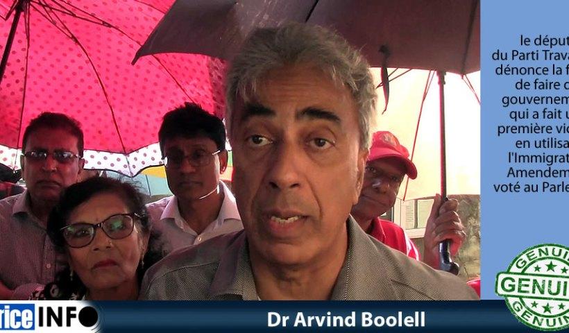 Dr Arvind Boolell a dit