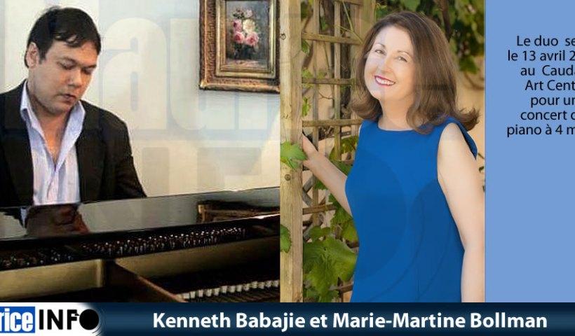 Kenneth Babajie et Marie-Martine Bollman