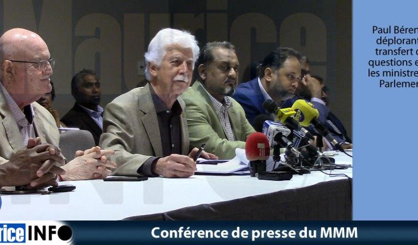 Conférence de presse du MMM du 18 Mai 2019
