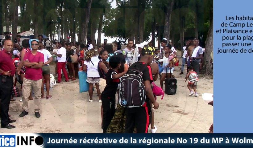 Journée récréative de la régionale No 19 du MP à Wolmar