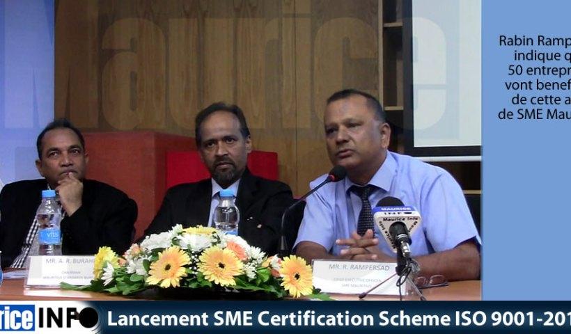 Lancement SME Certification Scheme ISO 9001-2015