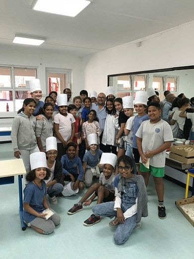 apprentis boulangers ont mis la main à la pâte à l'occasion de la semaine du pain du 13 au 19 mai 2019