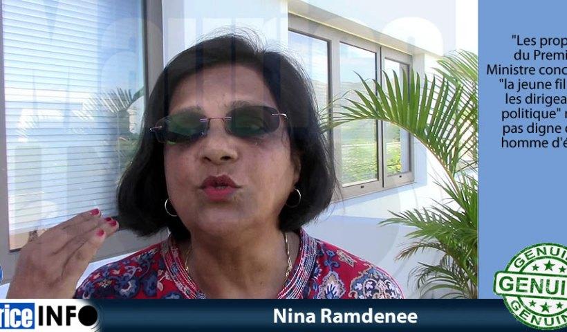 Nina Ramdenee a dit