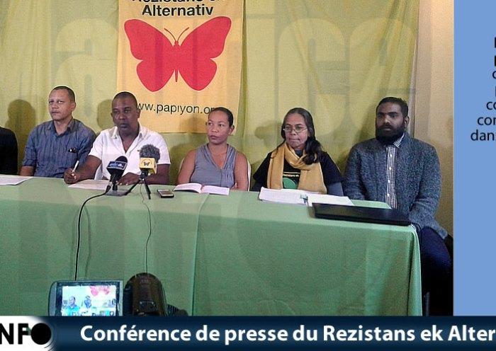 Conférence de presse du Rezistans ek Alternativ du 15 Juin 2019