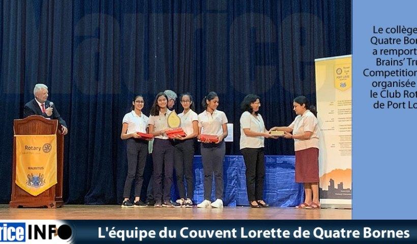 L'équipe du Couvent Lorette de Quatre Bornes