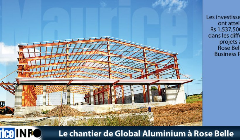 Le chantier de Global Aluminium à Rose Belle