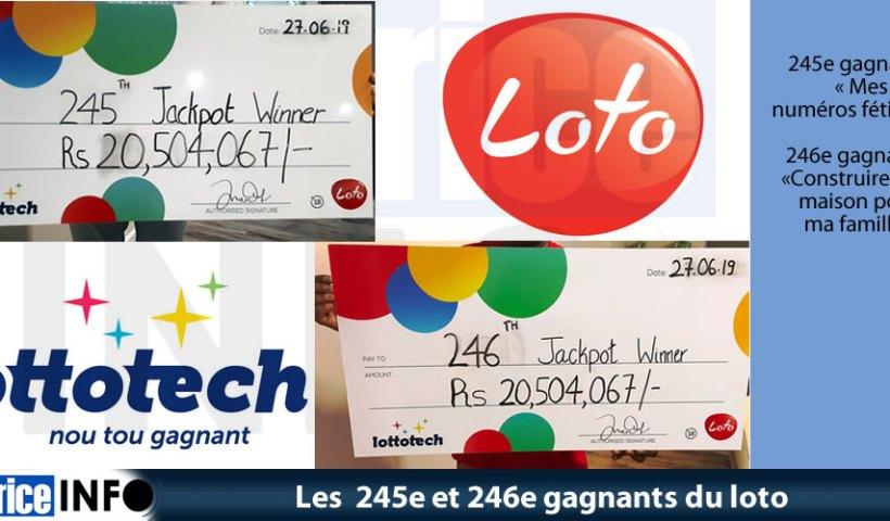 Les 245e et 246e gagnants du loto