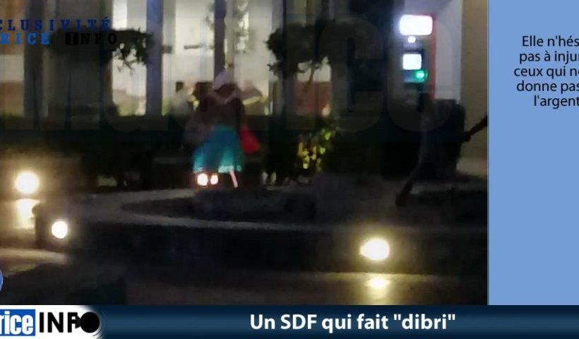 Un SDF qui fait dibri