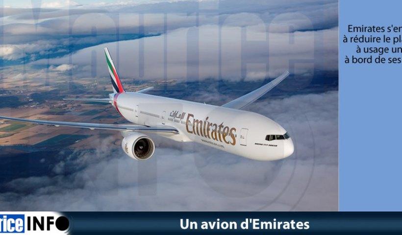Un avion d'Emirates