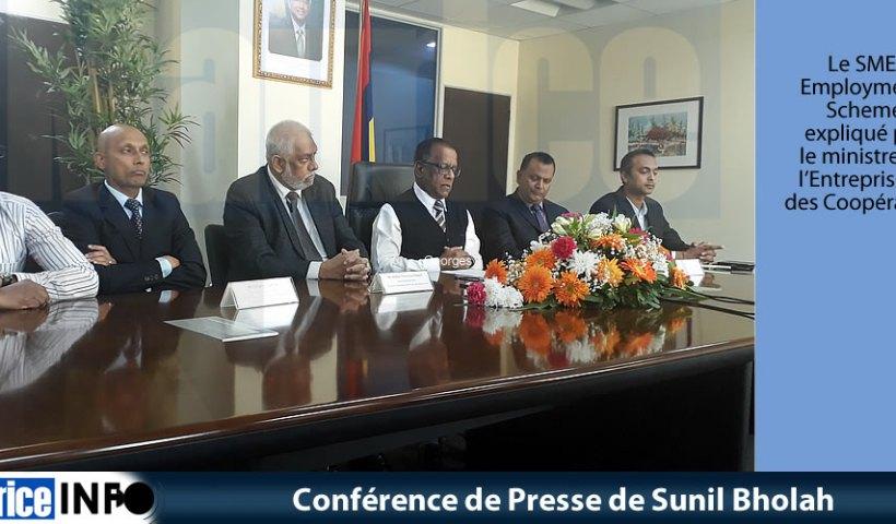Conférence de Presse de Sunil Bholah