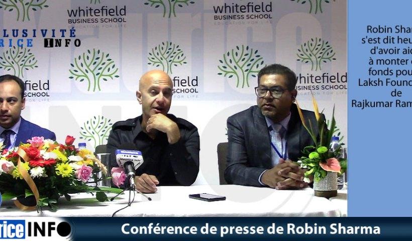 Conférence de presse de Robin Sharma