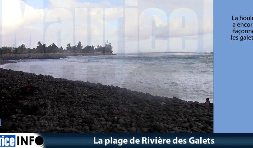 La plage de Rivière des Galets