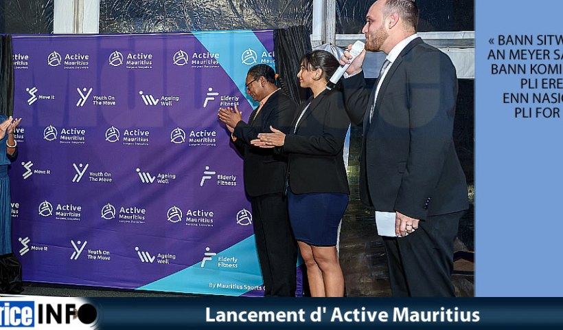 Lancement d'Active Mauritius