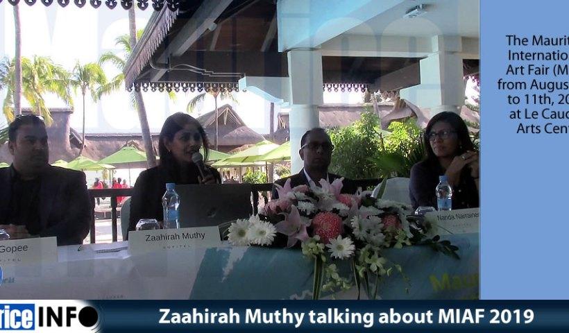 Zaahirah Muthy talking about MIAF 2019