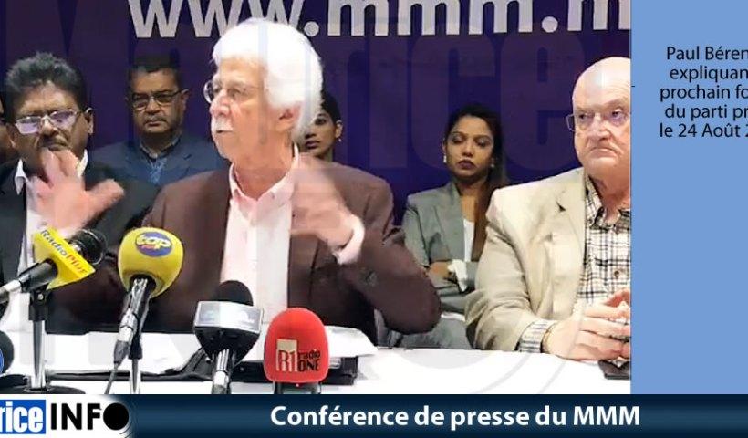 Conférence de presse du MMM du 17 Août 2019