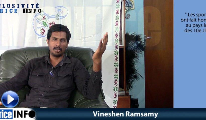 Interview Minute Vineshen Ramsamy