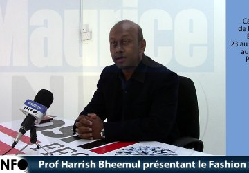 Prof Harrish Bheemul présentant le Fashion Show