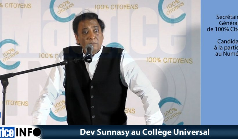 Dev Sunnasy au Collège Universal