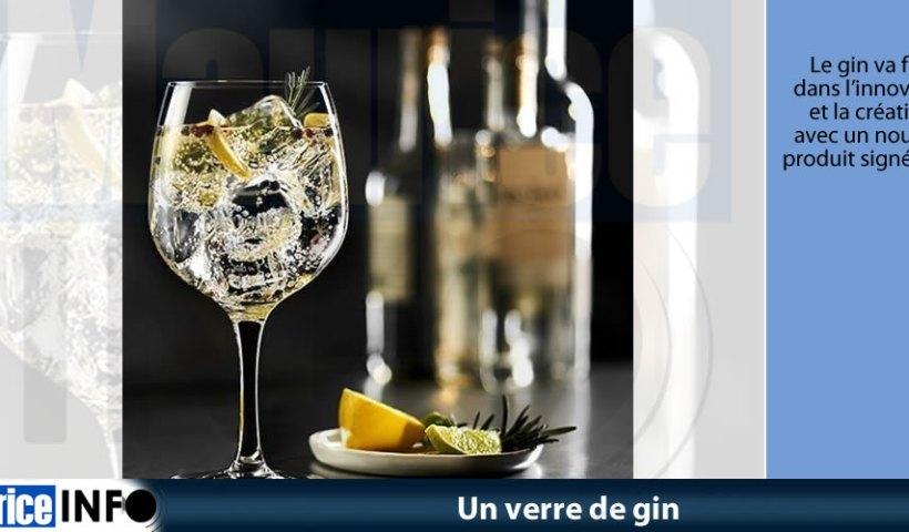 Un verre de gin