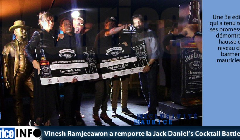 Vinesh Ramjeeawon a remporte la Jack Daniels Cocktail Battle 2019