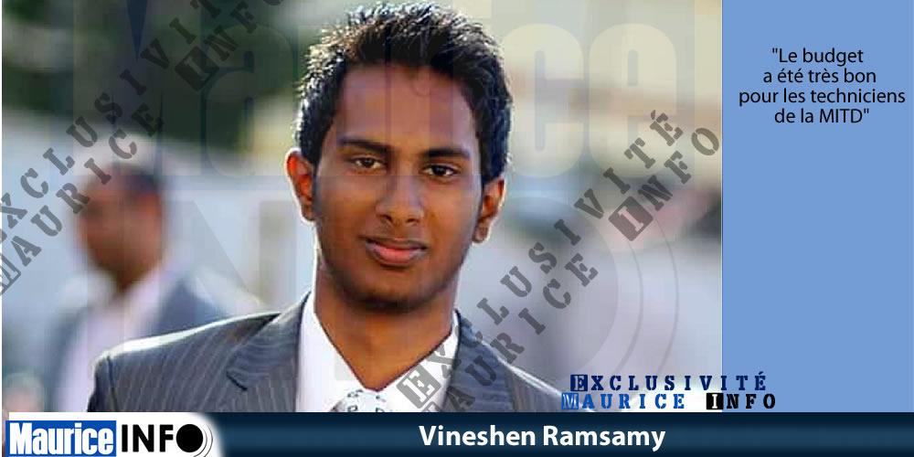 Vineshen Ramsamy: «Un budget magique»