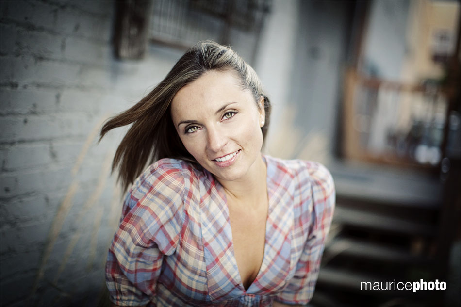 A natural light headshot of a model in Seattle by Maurice Photo