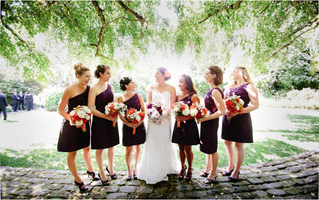 Parson's Garden Wedding Party Photo
