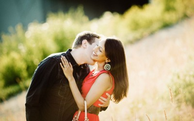 Geni and Tom's Engagement session at the Olympic Sculpture Park.