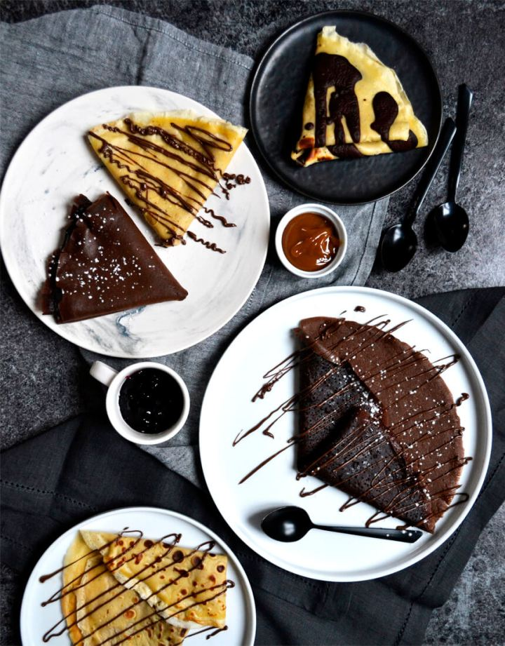 Crêpes parfumées chocolat et vanille