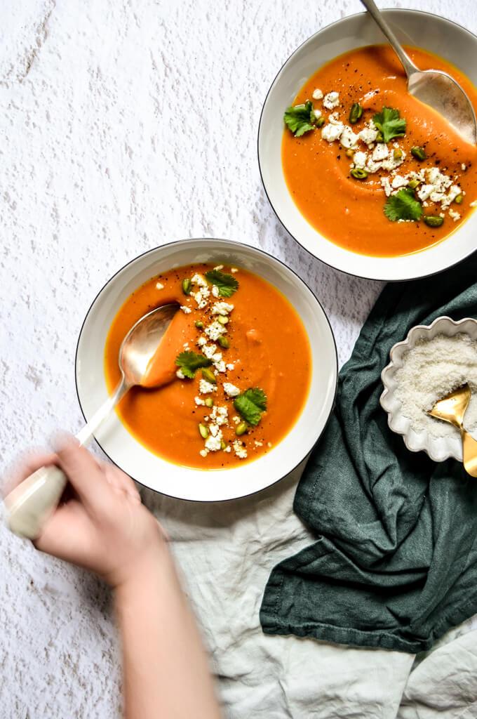 Soupe d'automne au potimarron