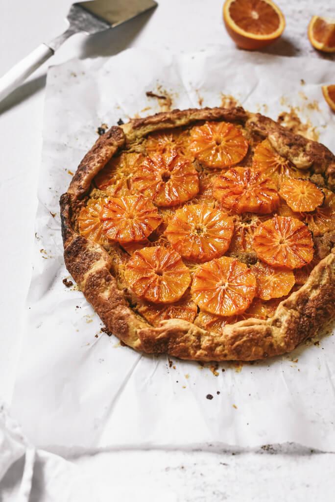 Tarte rustique à l'orange