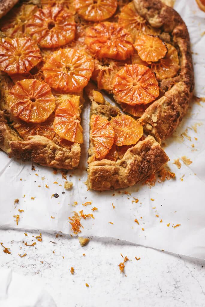 Tarte rustique orange sanguine