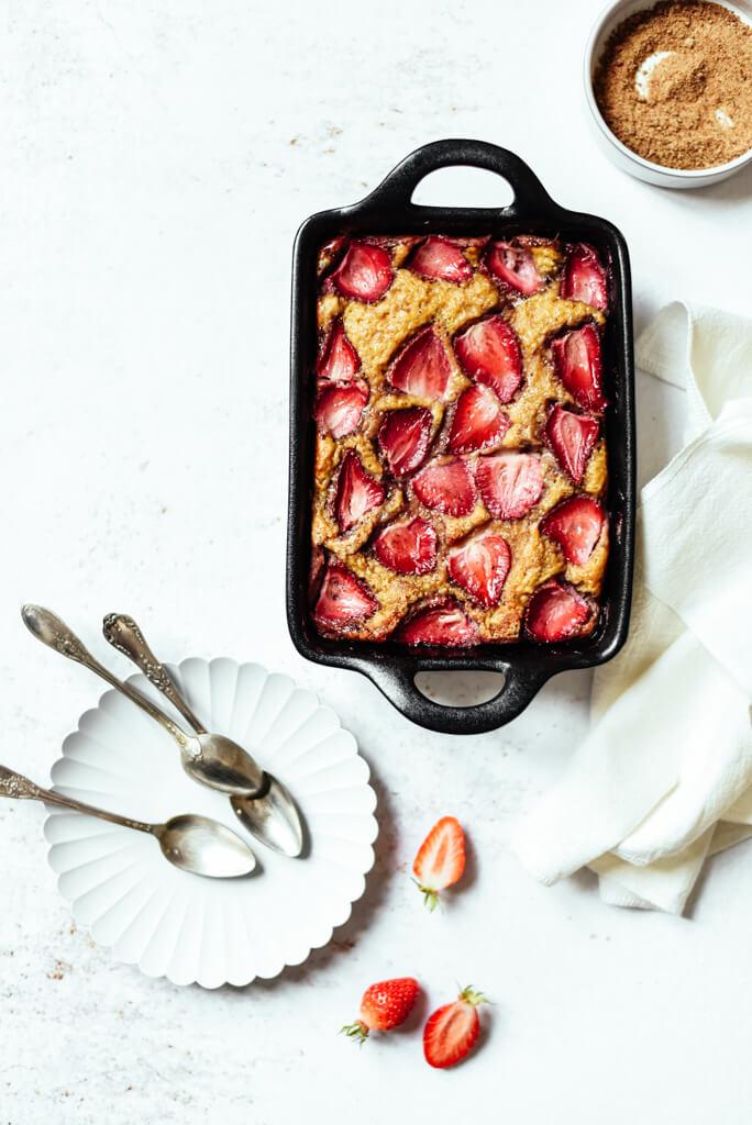 Gâteau Weight Watchers aux fraises rapide