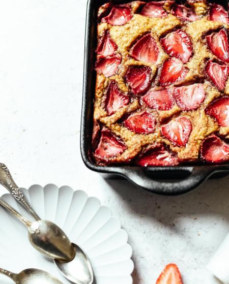 Gâteau Weight Watchers aux fraises